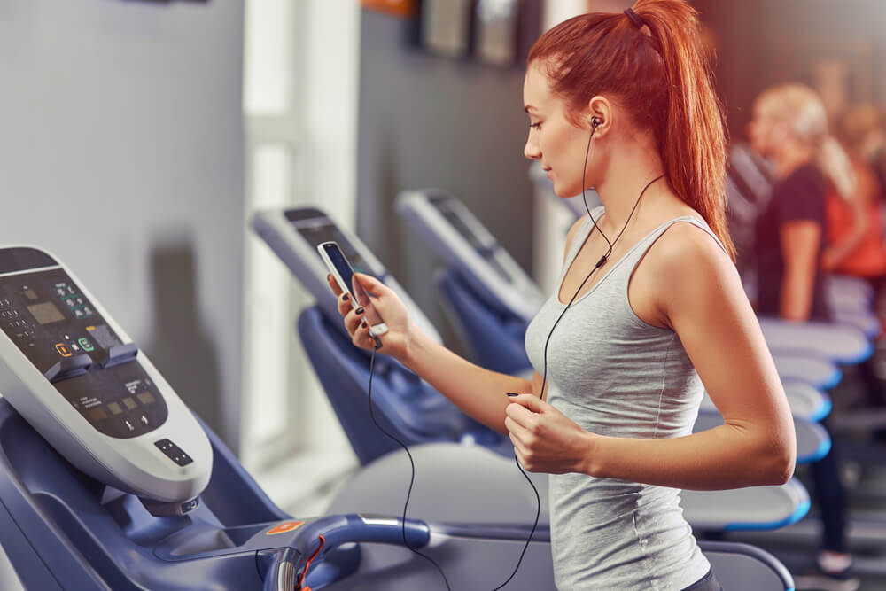 listening to radio on the treadmill