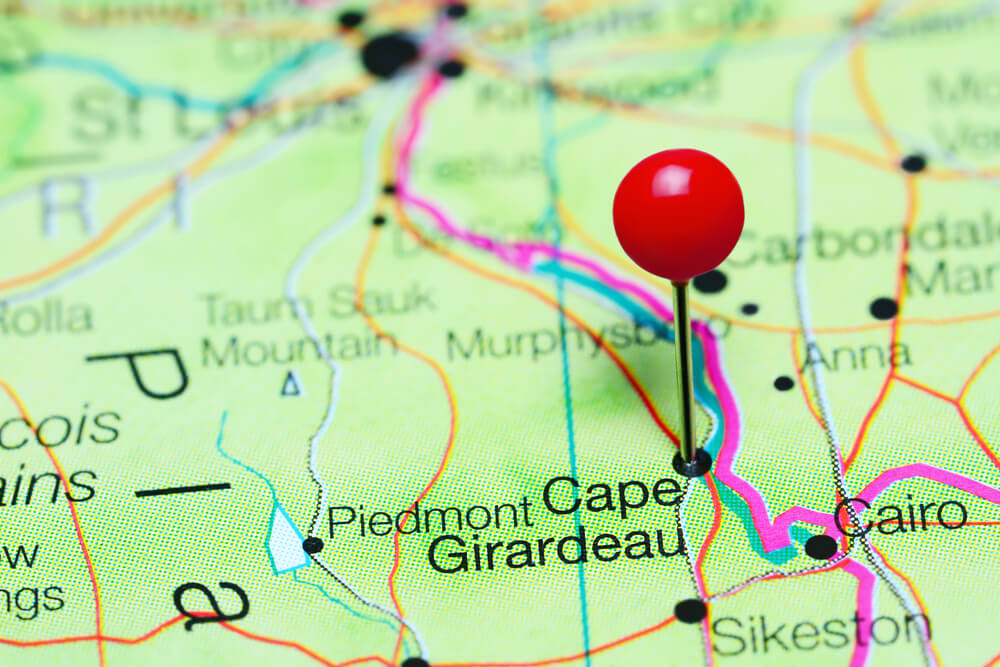 Cape Girardeau MO Map